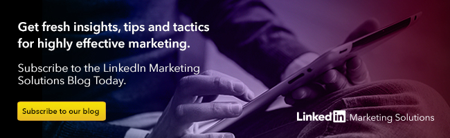 LinkedIn Marketing Solutions Blog