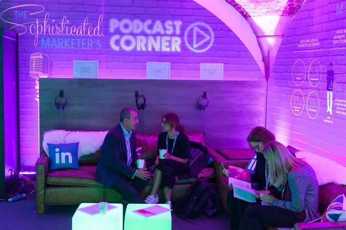 LinkedIn's Podcast Corner, Festival of Marketing 2016