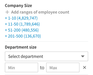 department-size-filter-sales-navigator