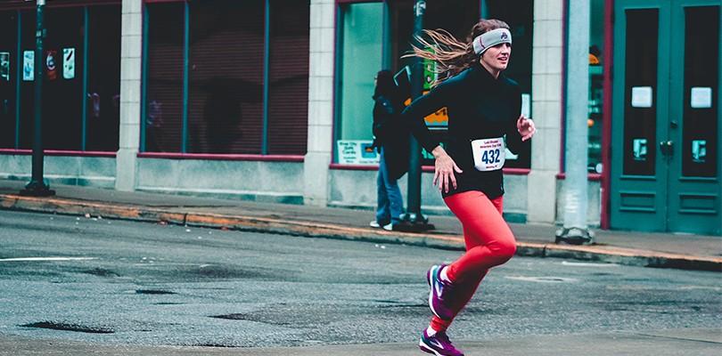 Marathon Runner Showing Persistence