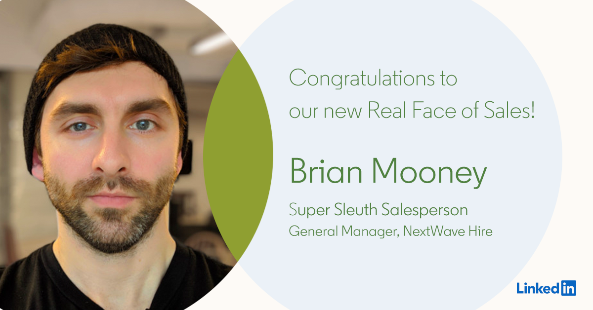 Announcing the Real Faces of Sales, as Nominated by You