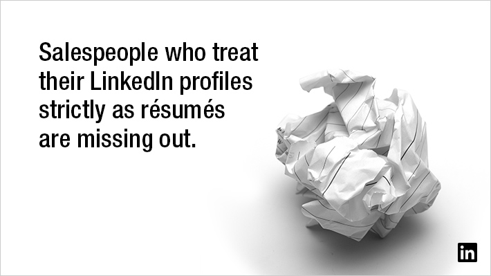 Rethinking the Résumé: How to Present Sales Experience on LinkedIn ...