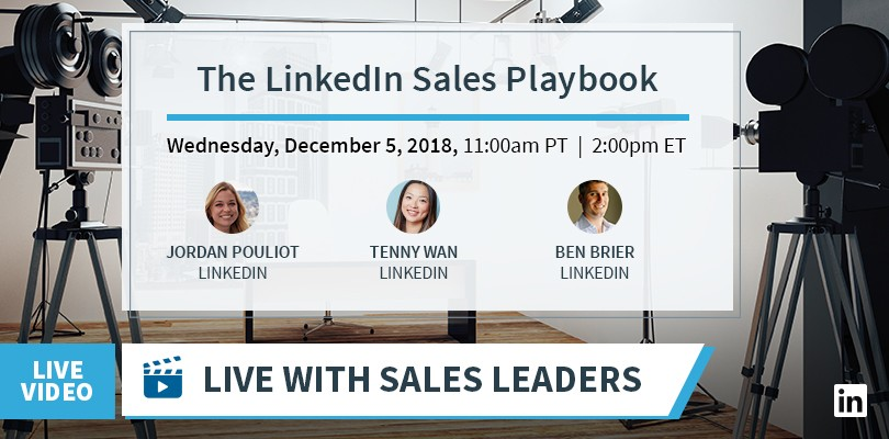 Announcing 'Live With Sales Leaders: The LinkedIn Sales Playbook