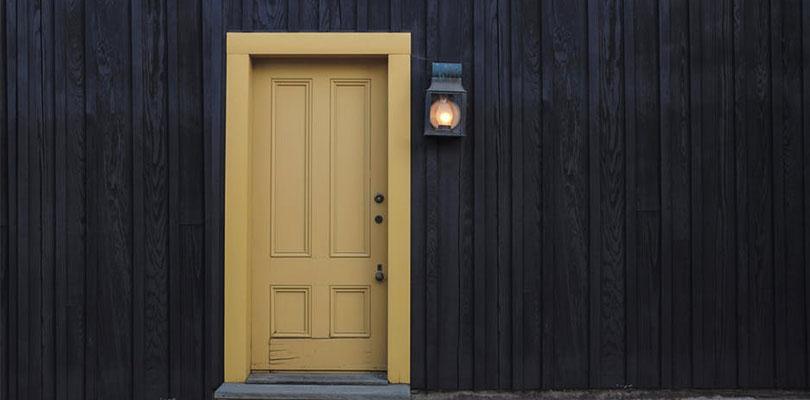 Yellow Exterior Door
