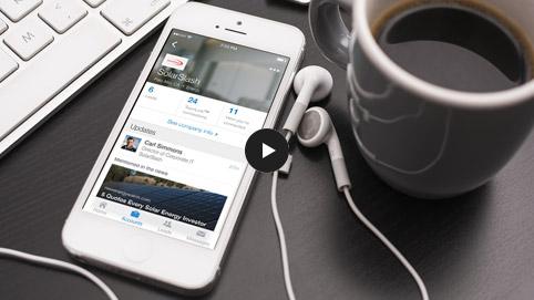 Application mobile Sales Navigator