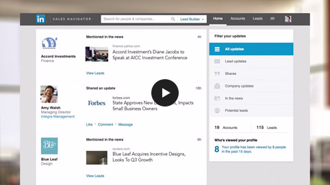 linkedin sales updates