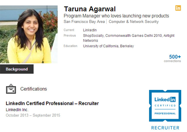 LinkedIn Recruiter Certification Badge