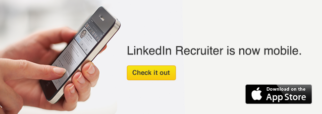 LinkedIn Recruiter Mobile banner