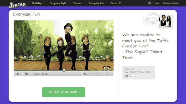 jibjab rapid7 university fair invite
