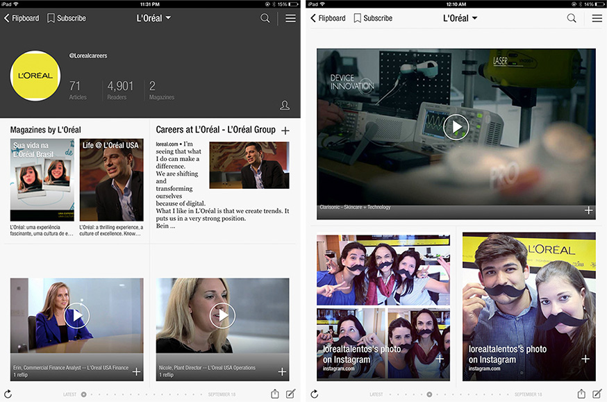 employer brand flipboard l'oreal