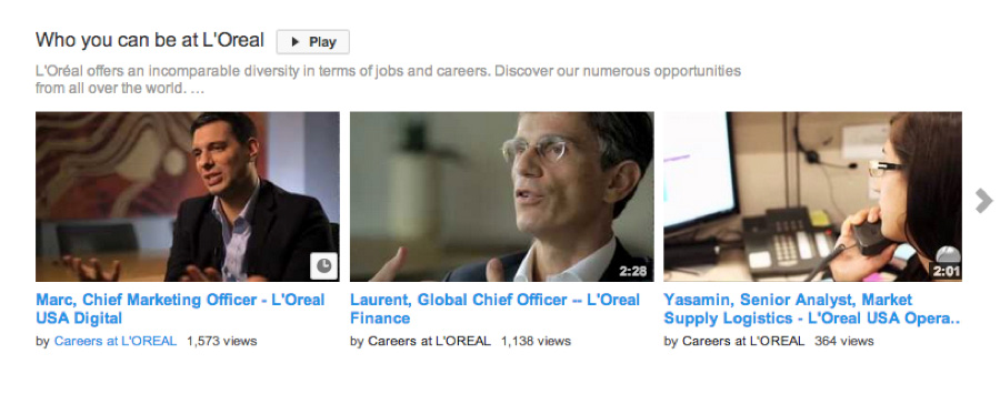 employer brand youtube l'oreal