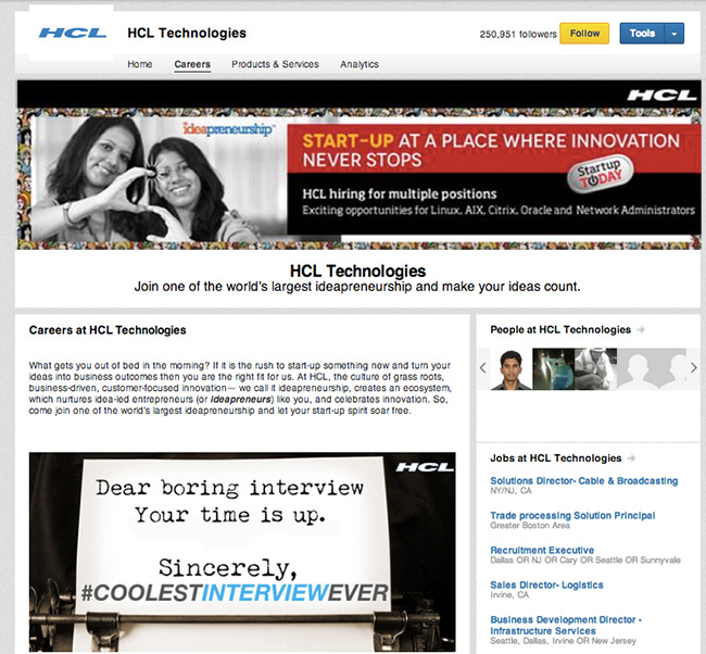 HCL-LinkedIn-Careers-Pages