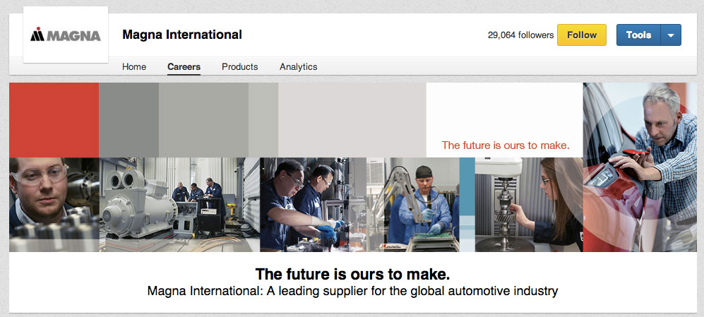 LinkedIn Career Pages Magna International