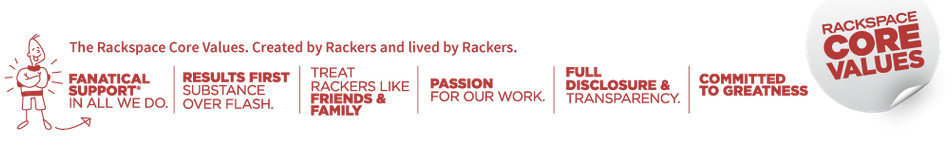 Rackspace core values