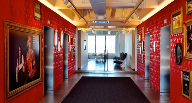ogilvy office. simple office he also adds eyecatching photos to job descriptions like ogilvyu0027s new  york office hallway with its vibrant red walls and striking artwork to ogilvy office