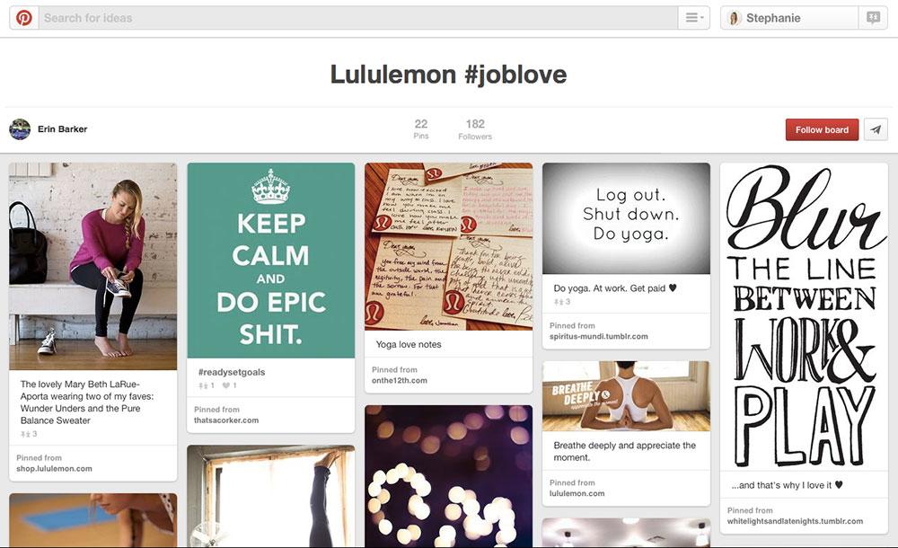 lululemon joblove employer brand hashtag