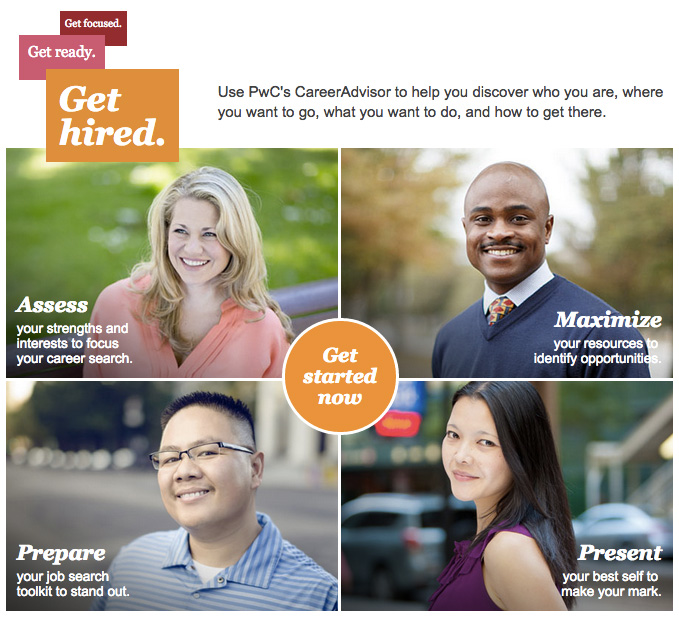 PwC career advisor site