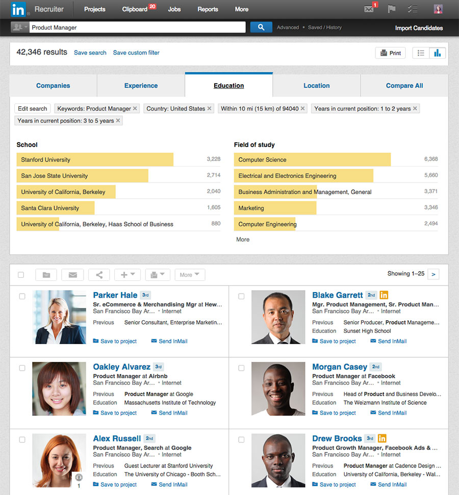 LinkedIn Recruiter Search Insights 1  Find Resumes On Linkedin