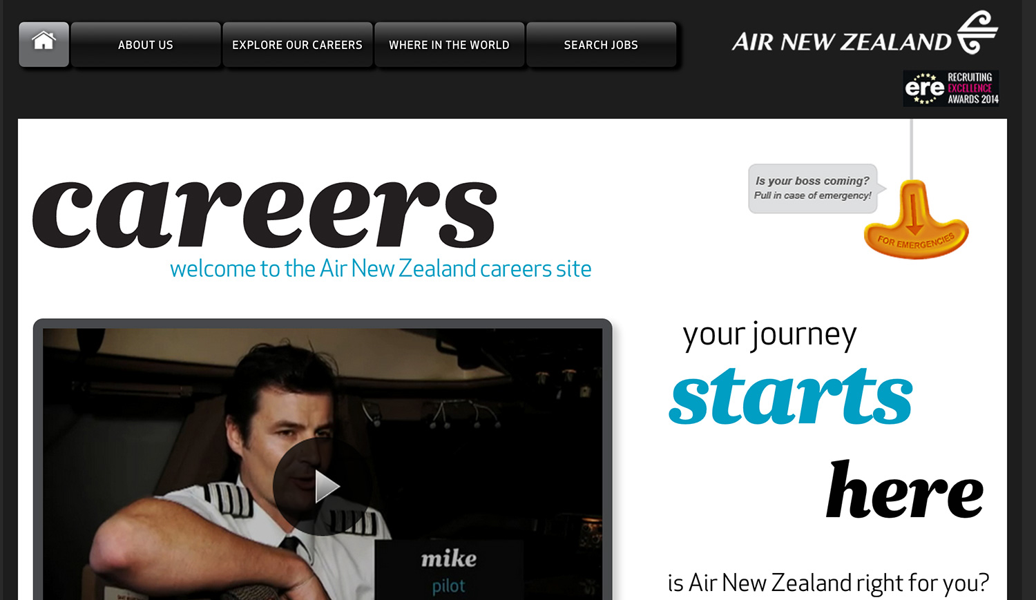 air new zealand career site