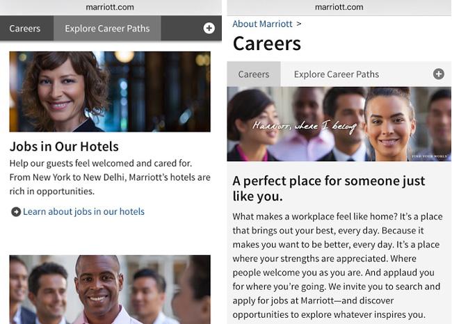 career webpage