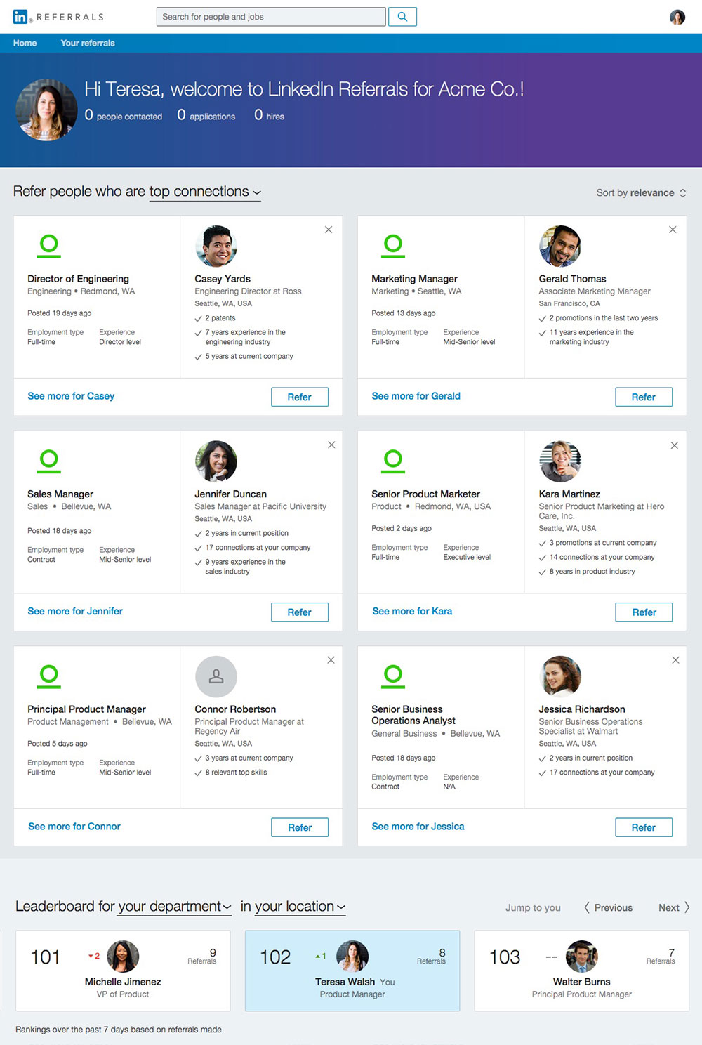 LinkedIn Referrals