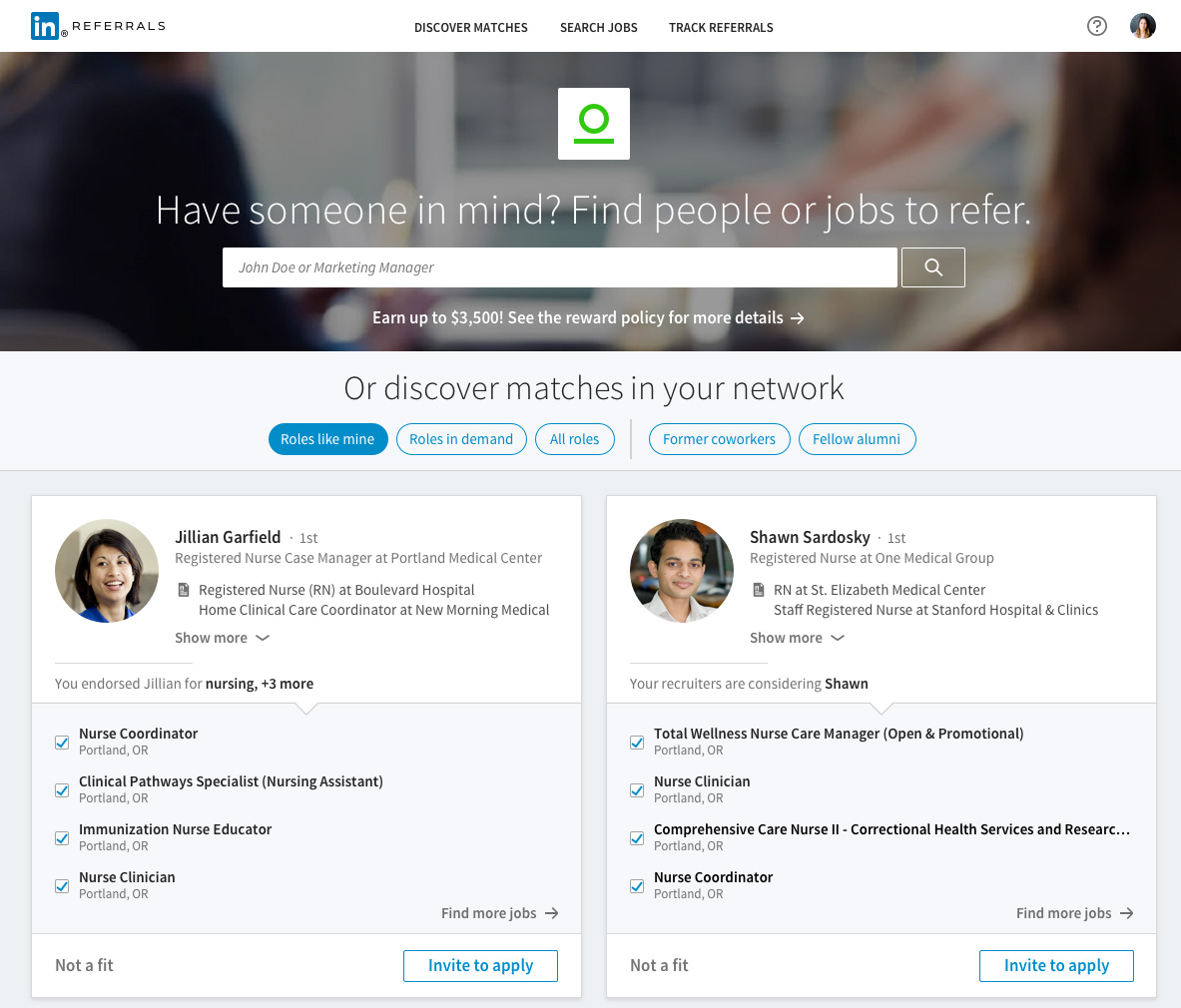a look at how linkedin is using linkedin referrals linkedin employees can search a friend s in the system and see what open jobs best suit them