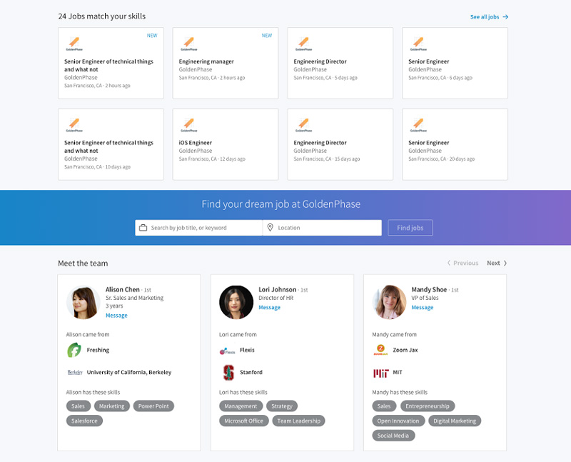 Introducing the Next Generation of LinkedIn Career Pages