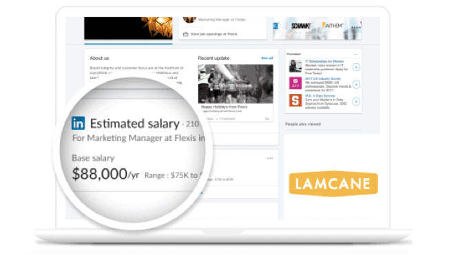 in 2016 we introduced linkedin salarya tool that allows users to see a detailed breakdown of salaries by job title and location based on information