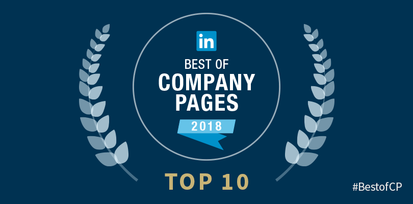 Announcing linkedin s top 10 company pages of 2018 for Top 10 product design companies