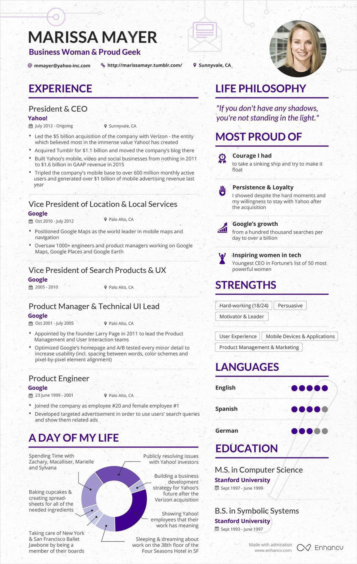 marissa mayer u2019s resume has gone viral again  but is it all