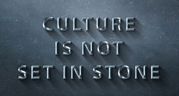 Screenshot of slide from presentation about HubSpot's Culture Code. Slide reads:  Culture Is Not Set In Stone