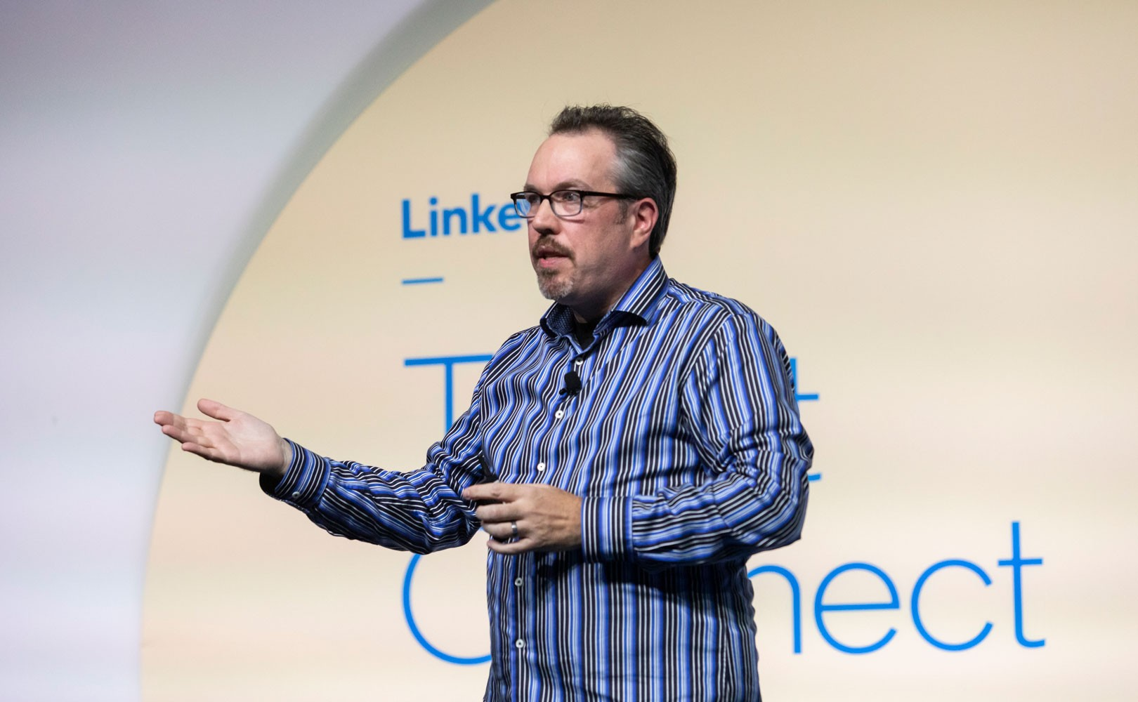 Photo of John Vlastelica speaking at Talent Connect 2019