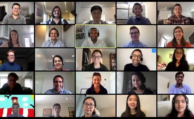 Screenshot of a virtual onboarding meeting on Zoom