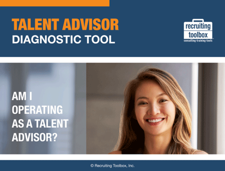 "Screenshot of the cover of the ""Talent Advisor Diagnostic Tool"""