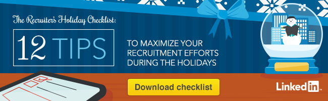 recruiter holiday checklist