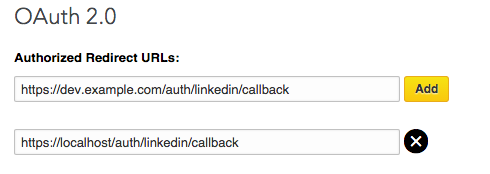 Sample OAuth2.0 callback value