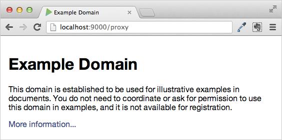 Proxy example