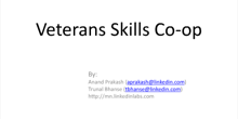 Veterans Skills Co-op