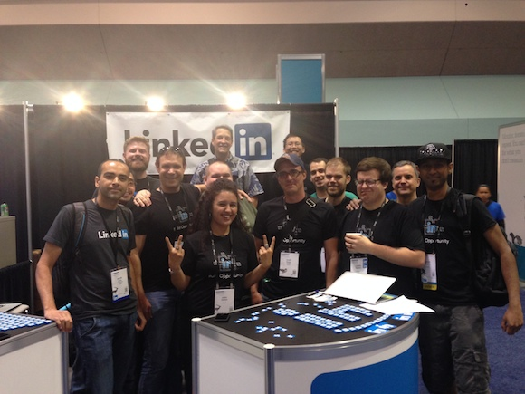 Photo of LinkedIn Engineers at our booth