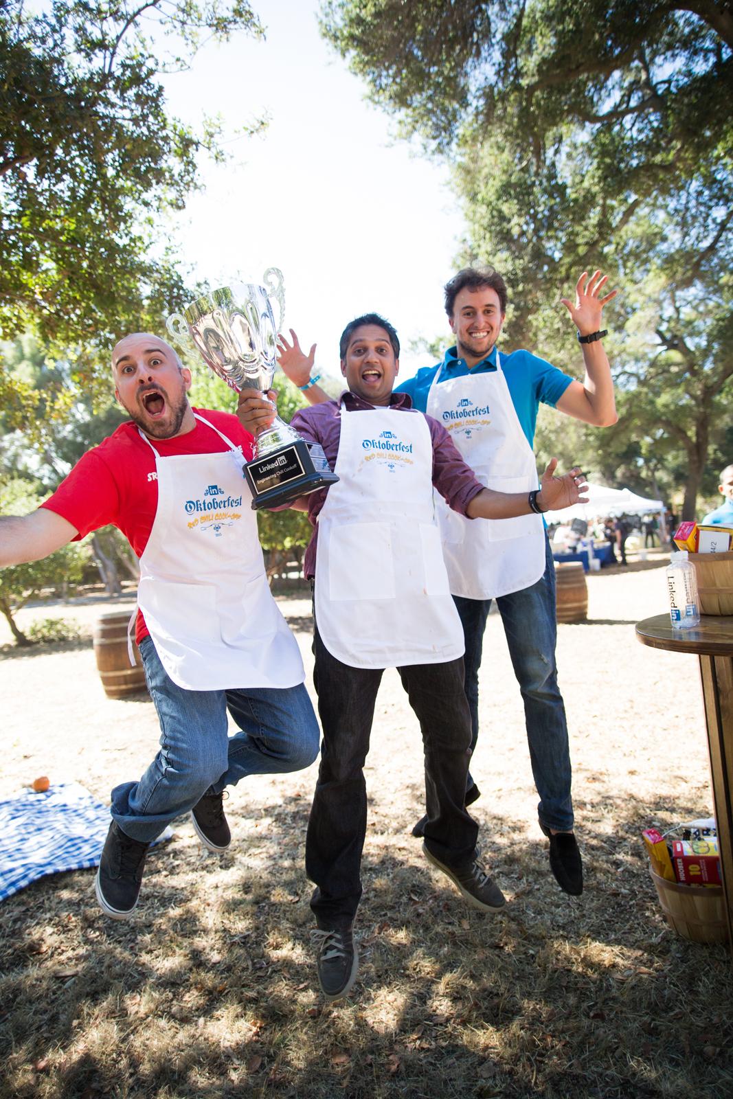 Joey Addona, Matthew Turco, and Laukik Watve take home the top prize with their Triple B chili