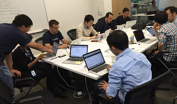 LinkedIn Engineers at a bootcamp
