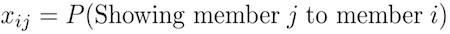 x-sub-i-times-j-equals-p-parenthesis-showing-member-j-to-member-i-parenthesis