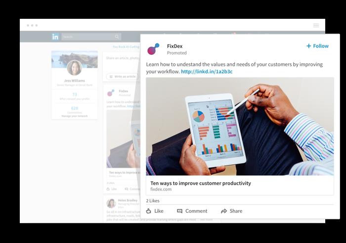 Sample Sponsored Content post on LinkedIn