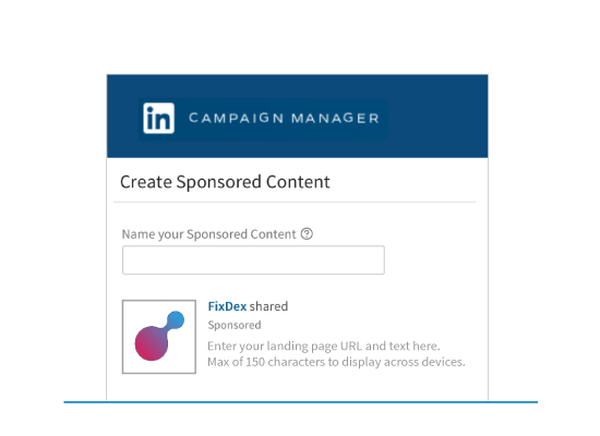 Sample Campaign Manager interface