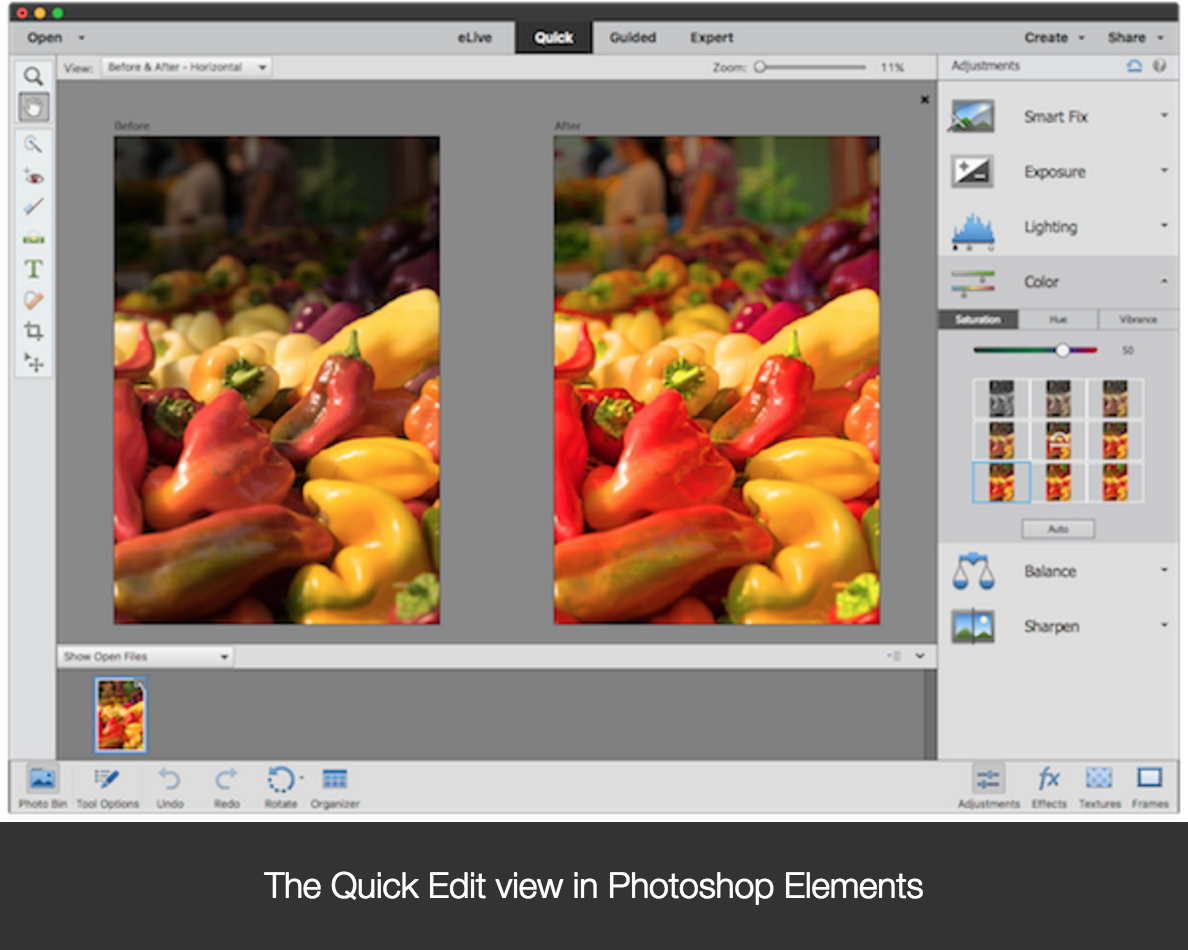 Photoshop photoshop between elements and difference