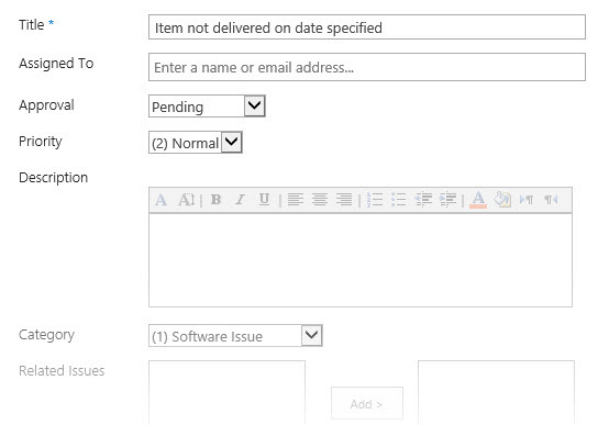 Manage Your Projects with the SharePoint Issue Tracking App