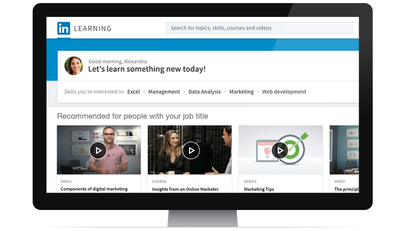 Launching linkedin learning introducing linkedin learning a better way to develop skills and talent stopboris Images