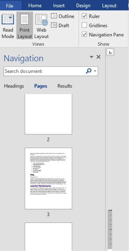 The 3 ways to delete a page in word video from here scroll through the list of pages to find out if any surprise blank pages pop out at you once you identify them you can delete them ccuart Images
