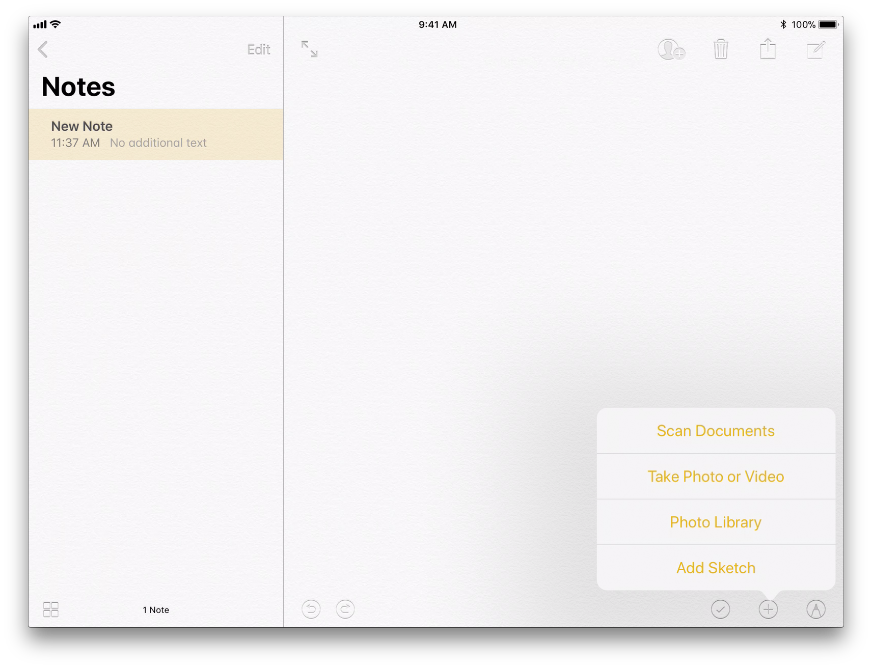 how to scan and sign documents with notes in ios 11