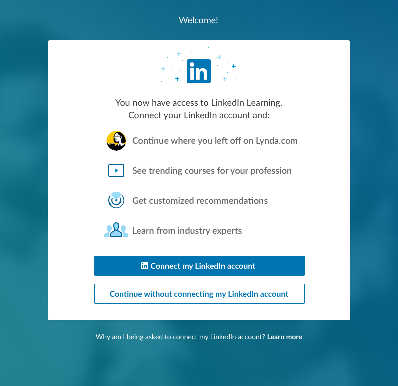 Connecting LinkedIn Account